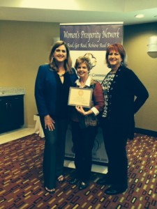 Linda Allred Receiving her Certified Professional Speaker Certificate from Woman's Prosperity Network (WPN)